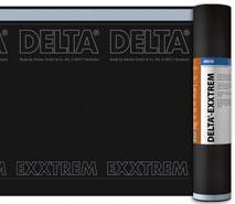 DELTA®-EXXTREM - дифузійна мембрана для гідроізоляції мансардних дахів з одним вентиляційним зазором при влаштуванні інтегрованих в покрівлю сонячних батарей і колекторів.