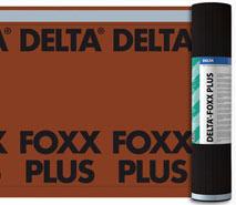 DELTA®-FOXX / DELTA®-FOXX PLUS - дифузійна мембрана для похилих дахів з суцільним настилом. Має водовідштовхувальне покриття. DELTA®-FOXX PLUS має дві вбудовані зони проклейки по краю рулону.
