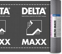 DELTA®-MAXX - дифузійна мембрана з адсорбційним шаром для дахів з повним утепленням крокв і вентильованих фасадів.