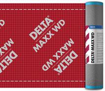 DELTA®-MAXX WD - дифузійна мембрана преміум-класу з двома зонами проклейки нахлестів.