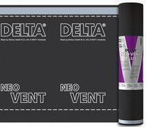 DELTA®-NEO VENT PLUS - універсальна дифузійна мембрана для монтажу на утеплювач і суцільний настил. Інноваційна технологія BiCo при виробництві нетканої основи.