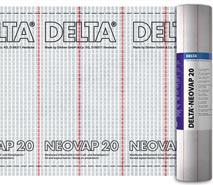 DELTA®-NEOVAP 20 - міцна напівпрозора пароізоляція для похилих дахів та стін. Легкий контроль утеплення та простий монтаж.