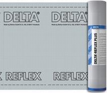 DELTA®-REFLEX PLUS / DELTA®-REFLEX - енергозберігаюча 4-шарова пароізоляційна плівка з відбиваючим покриттям для скатних і плоских дахів.