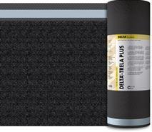 DELTA®-TRELA PLUS / DELTA®-TRELA - об'ємна дифузійна мембрана для дахів з металевим покрівельним покриттям. Застосовується в конструкціях з одно- і двошаровою вентиляцією. DELTA®-TRELA PLUS має дві зони проклеювання.