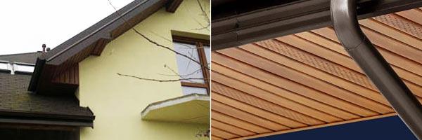 Софіти - підшивка даху фото