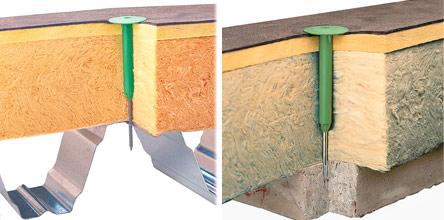 Кріплення Vilpe до тепло-і гідроізоляції